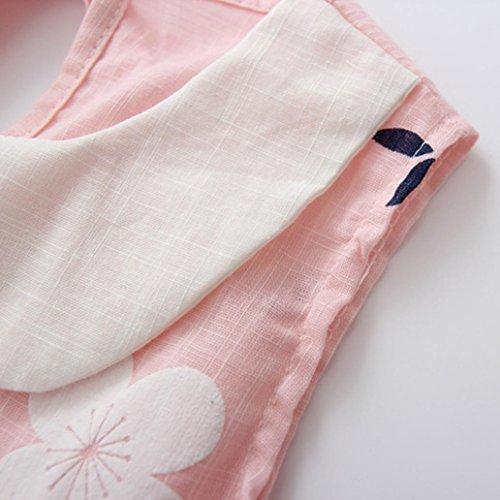 Sakura 3T 2 Robe Jupe Imprimée Pour Robe rose Mariage d'été de Princesse de LMMVP Filles 2 Bébé Manches Mode de Mode 7T Imprimée Toddler rose Robes 90 Fleur Filles Sans 44q5r1nw