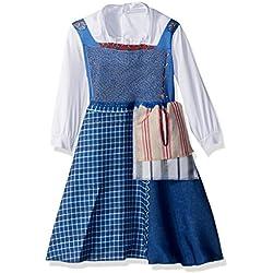 Disney Belle Village Dress Classic Movie Costume, Multicolor, Medium (3T-4T)