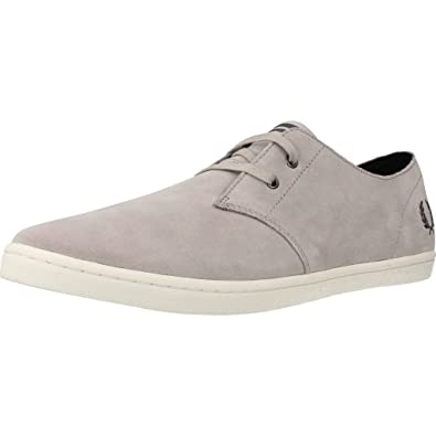 Fred Perry Byron Low Suede Carbon cdU73Ohf9