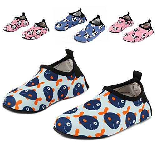 Yidomto Kids Water Shoes, Quick Dry Barefoot Socks for Toddl
