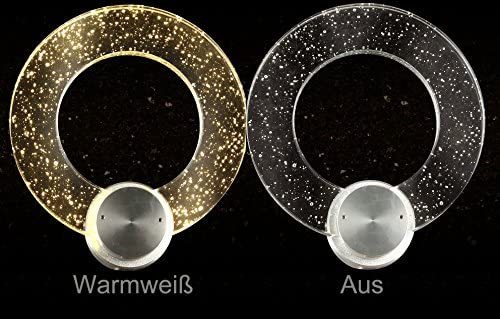 Warmweiß LED Wandleuchte Kristallring 2802 Ø20cm 12W A+