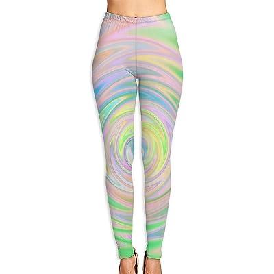 Abusss Pantalons Yoga de Tela Deportivos de Cintura Alta Pantalones de Pastel Colors Womens Ultra Soft Leggings Fashion High Waist Yoga Pants Printed Sport Workout Leggings Tight Pants: Ropa y accesorios