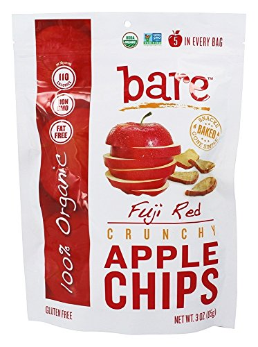 Bare Fruit - 100% Organic Bake-Dried Fuji Apple Chips - 3 oz (pack of 2) by Bare Fruit