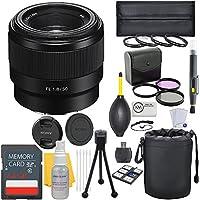 Sony FE 50mm f/1.8 Full Frame E-Mount Prime Lens + Deluxe Lens Bundle