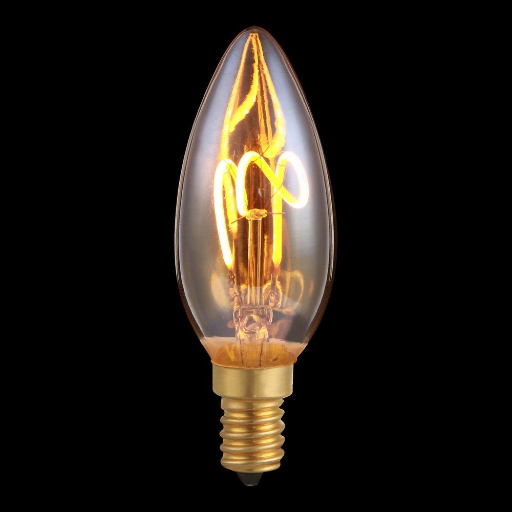 LED Spiral Filament Rustika Birnenform A60 3W E27 extra warmweiß 2200K DIMMBAR