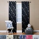 Best Home Fashion Room Darkening Animal Print Curtains - Stainless Steel Nickel Grommet Top - Black - 52'' W x 84'' L - (Set of 2 Panels)