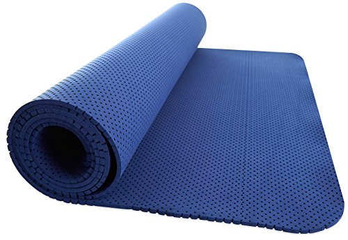 Yoga Mat for Fitness Exercise, 1/5 inch Lightweight High Density with Strap, 1.1 Pounds, 69.5X24 Inch Size – DiZiSports Store