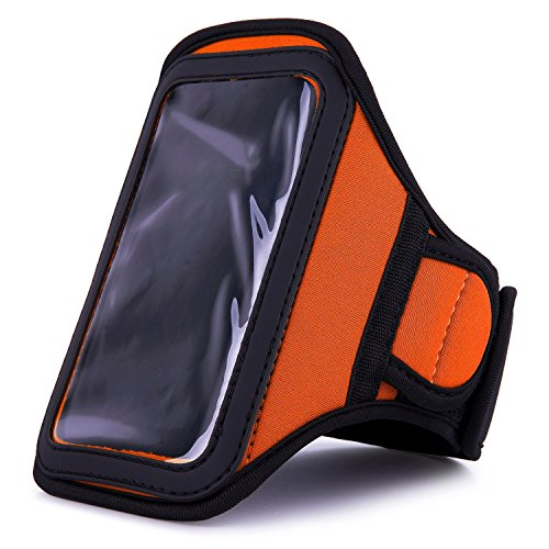 VanGoddy Athlete's Choice Workout Armband for Kyocera DuraScout / Kyocera DuraForce Smartphones, Orange (Kyocera Accessories Dura Scout)