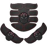 Ankuka Abdominal Muscle Toner, ABS Stimulator Portable Muscle Toning Trainer Belt for Abdomen/Arm/Leg Training, Gym Workout Home/Office Men Women Fitness Equipment (Black/Orange)