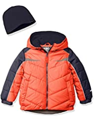 Hawke & Co. Boys' Puffer Coat with Contrast Pieced Insert