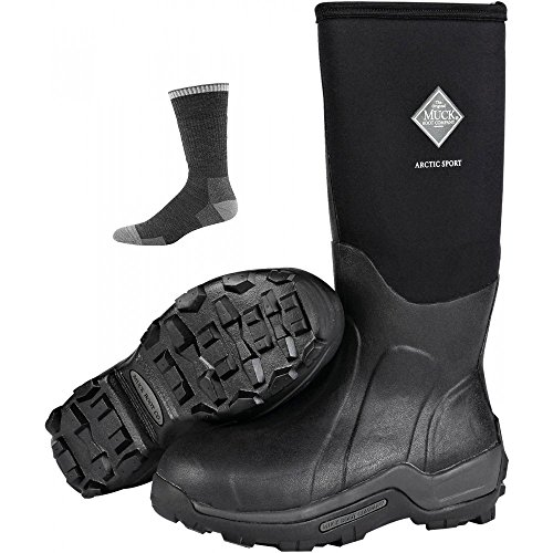 Performance Boots Men's Arctic W Muck Boot Black Socks Sport Winter High Rubber dXgSwYq