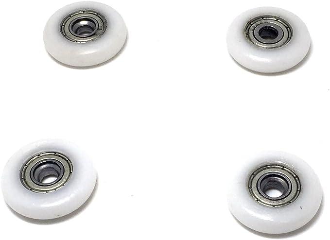 8 pi/èces avec vis Roues de cabine de douche antirouille Roulettes de porte de douche Yuanqian Poulies de douche Roulettes de porte de douche 19 mm