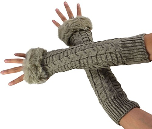 SYAYA Knitted Mitten Gloves Fingerless product image