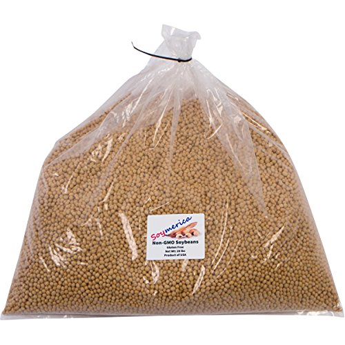 Soymerica Non-GMO Soybeans - 28 Lbs (Newest Crop). Identity Preserved (IP). Great for Soy Milk and Tofu. 100% Product of USA by Soymerica