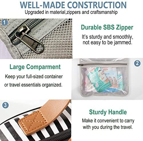 Toiletry Bag,WDLHQC Travel Hanging Makeup Bag,Waterproof Large Cosmetic Make up Organizer for Travel Accessories Kit,Bathroom Shower,Gifts for Her/Women,Men