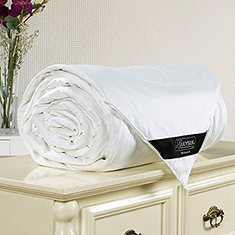 Lilysilk Silk Comforter Cotton Covered 100 19 Momme Natural Mulberrysilky Filled Dream Summer King Size White