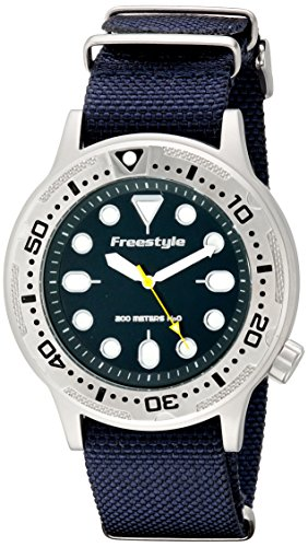 Freestyle Dive Watch - Freestyle Unisex 10019174 Ballistic Dive Analog Display Japanese Quartz Blue Watch