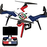 MightySkins Protective Vinyl Skin Decal for 3DR Solo Drone Quadcopter wrap cover sticker skins Dominican Flag