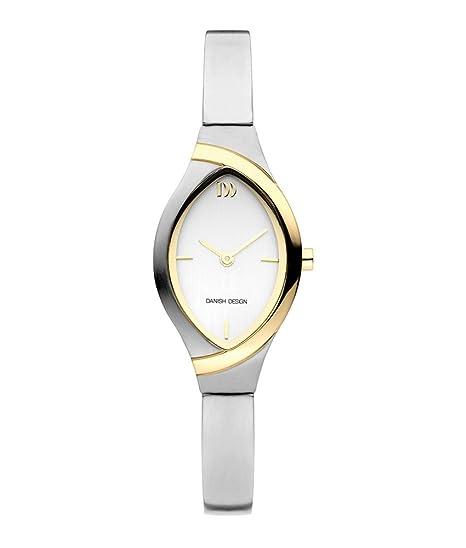 Danish Design iv65 q1228 Horloge Dames - Zilver en goud - Titanium: Amazon.es: Relojes