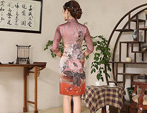 Fleurs Femme Robe Acvip Crayon Small qBxaxt4