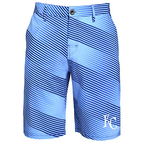 FOCO MLB Men's Diagonal Stripe Walking Short, Kansas City Royals 36