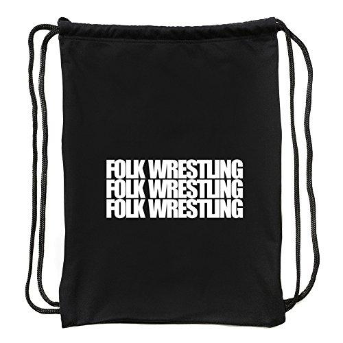 Eddany Folk Wrestling three words Sport Bag by Eddany