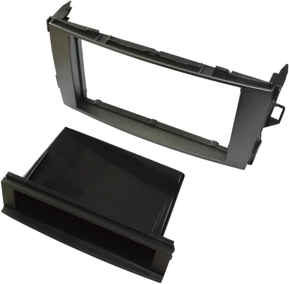 AERZETIX Mascherina telaio adattatore 1 e 2DIN copertura in plastica stampata per il cambio sostituzione dellautoradio originale con un radio standard per veicoli automobile