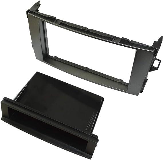 Aerzetix In-Dash Mounting Panel 1//2 DIN Car Radio Front Frame Adapter Anthracite C40967