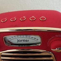 Amazon Jonter M3ーレトロ Bluetoothスピーカー Fmラジオ ワイヤレス 低音強化 大音量 12時間再生 Aux有線再生 マイク内蔵ハンズフリー通話 Iphone Android対応 贈り物 ブラック Jonter ポータブルスピーカー
