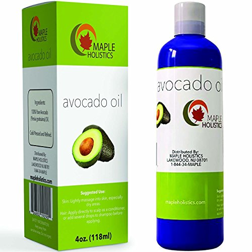 100% Pure Avocado Oil - Deep Tissue Moisturizer for Hair, Face & Skin - Rich in Retinol & Vitamin E to Reduce Wrinkles - Supports Skin Rejuvenation & Hair Growth - Deep Tissue Oil