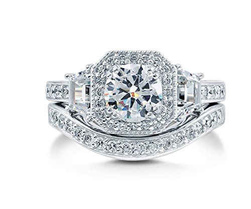 Ginger Lyne Collection Juliana Engagement Wedding Band Ring Set