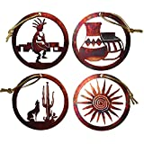 Chevelon Goods Rustic Metal Ornament Set – Southwest