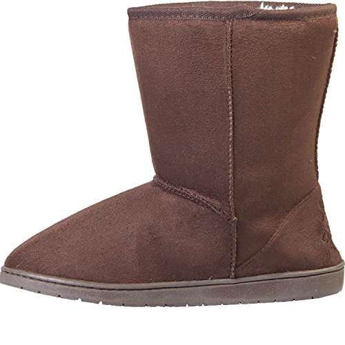 Image of DAWGS Womens 9 Inch Faux Shearling Microfiber Vegan Winter Boots