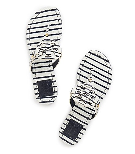 Tory Burch Miller Flip Flop Leather Thong Sandal LOGO (10...