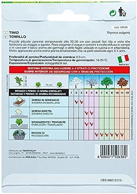 Semillas Aromaticas Tomillo (1 Gramo): Amazon.es: Jardín