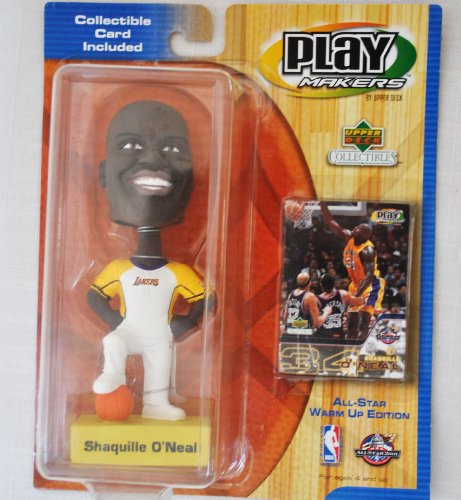 LA Lakers star Shaq Oneal #34 official NBA Upper Deck Playmakers Bobble card set Bobblehead by Upper Deck