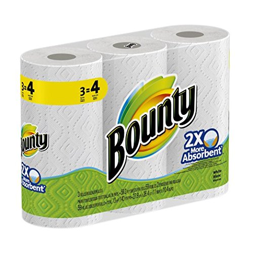 Bounty Select-a-size Paper Towels, Huge Rolls, White, (Packaging May Vary) (4 Rolls) by Bounty (Image #1)