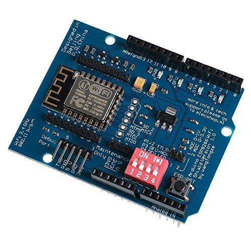 Price comparison product image SODIAL(R) ESP-12E ESP8266 UART WIFI Wireless Shield Development Board For Arduino UNO R3