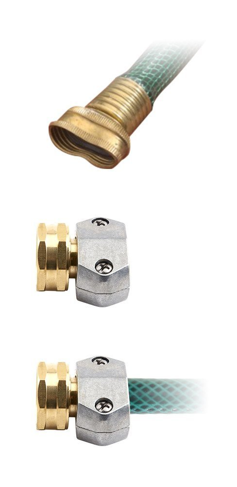 Gilmour Heavy Duty Brass & Zinc Female Hose Repair Mender - Clamp Coupling for Garden Hoses - 01FZ (20)