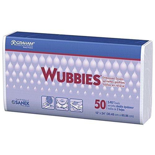 Graham Wubbies Embossed Towels 50 Count  12