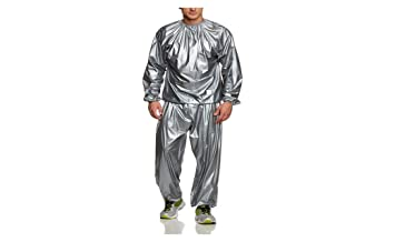 80d312bd519 Amazon.com: PU Health Pure Acoustics Silver Weight Loss Sweat Sauna ...