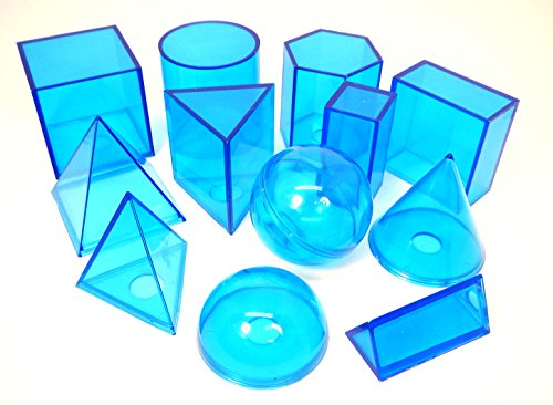 ETA hand2mind Blue Power Geometric Solids (Set of 12) (Prism Shape)