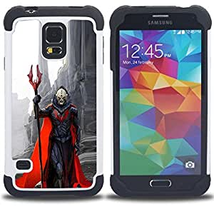 - demon character red cape monster death - - Doble capa caja de la armadura Defender FOR Samsung Galaxy S5 I9600 G9009 G9008V RetroCandy