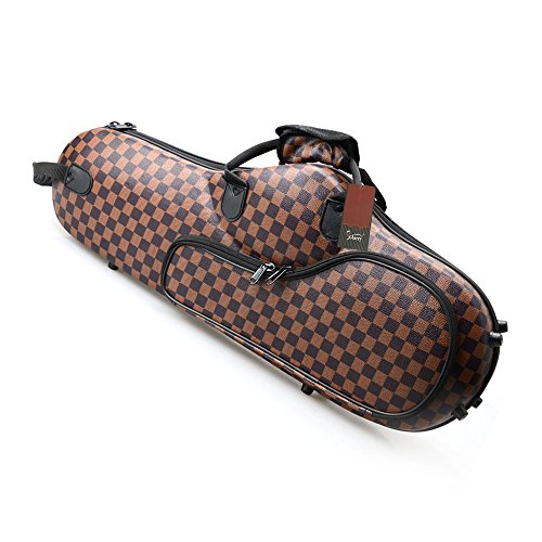Glarry Cloth Alto Saxophone Case Box Gig Bag Coffee with Leather Surface by GLARRY (Image #1)