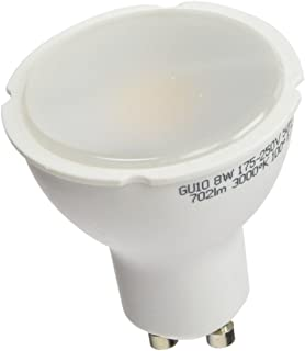 A2BC LED Lighting Bombilla LED GU10, 8 W, Blanco Cálido 3000K 10 unidades