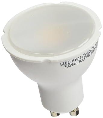 A2BC LED Lighting Bombilla LED GU10, 8 W, Blanco Cálido 3000K, 10 unidades