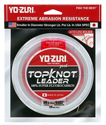 Yo-Zuri Topknot 30 yd Sinking Leader, Disappearing Pink, 80 lb