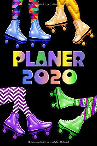 Planer 2020  Kalender Retro 80er 90er Rollschuh Neon Terminplaner   Terminkalender Mit Wochenplaner Monatsplaner Und Jahresplaner   Taschenkalender ... Beruf   Mit Jahresübersicht   Geschenk Idee