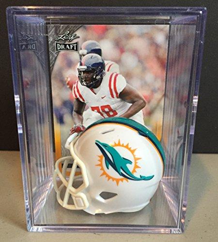 Miami Dolphins 2016 NFL Draft Helmet Shadowbox w/ Laremy Tunsil card (Draft Miami Dolphins Nfl)