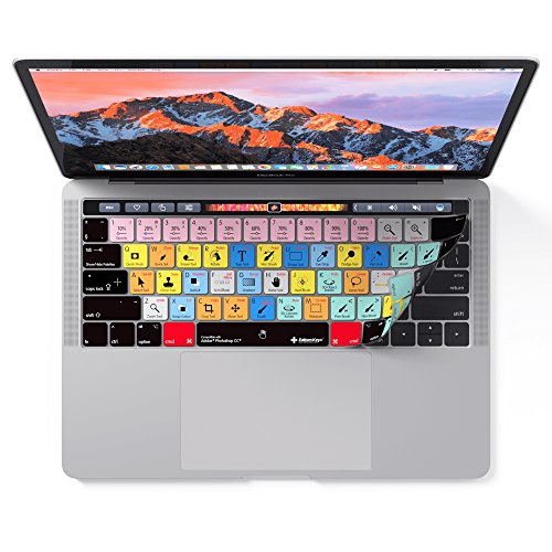 Adobe Photoshop Keyboard Cover for MacBook Pro Touch Bar - Protection and Shortcut Skin. 13